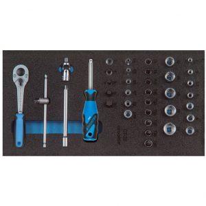 """1500 CT1-20, set nasadnih ključeva-prihvat 1/4"""" u 1/3 CT-modulu"""